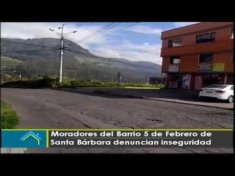 Moradores del barrio 5 de febrero de Santa Bárbara denuncian inseguridad