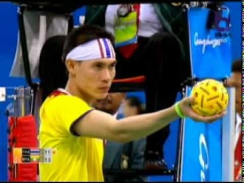 Sepak Takraw(Man) @2010 Asian Games - Thailand vs Myanmar 1/5