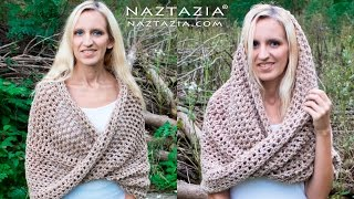 Donna Wolfe from Naztazia http://naztazia.com shows you to crochet a mobius (moebius) twist shawl wrap and hooded cowl. ******* AS A REMINDER - when you get ...