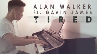 Video Alan Walker ft. Gavin James - Tired (piano cover by Ducci) MP3, 3GP, MP4, WEBM, AVI, FLV April 2018