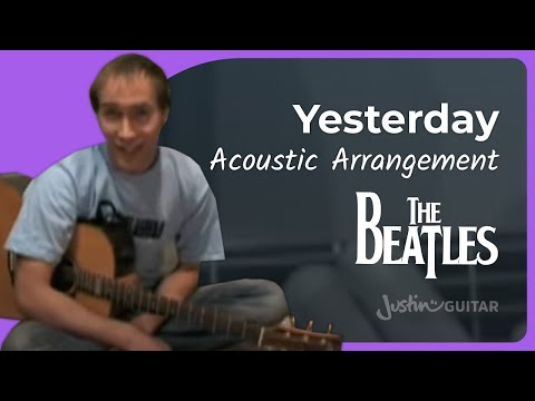 Yesterday – Beatles #1of3 (Songs Guitar Lesson ST-200) How to play