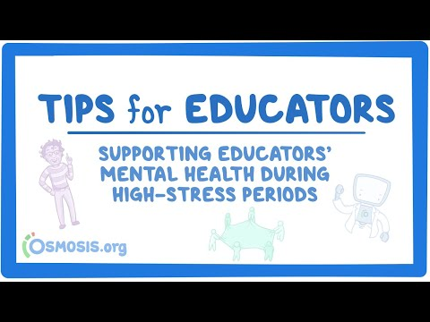 Supporting educators' mental health during high-stress periods