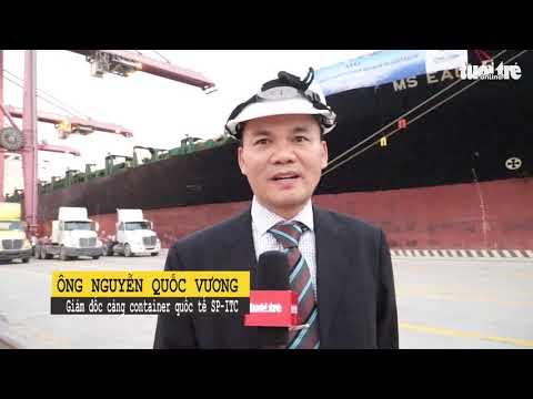 """TP.HCM đón tàu tải trọng """"khủng"""" chuyển hàng hoá trực tiếp đi Úc - Thời lượng: 108 giây."""