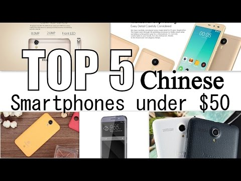Top 5 chinese smartphones under $50 dollars/best/cheapest(5''/5.5'' inch/battery/3G/4G/MTK)2016