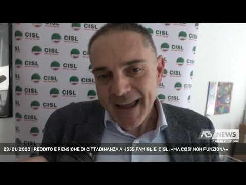 23/01/2020 | REDDITO E PENSIONE DI CITTADINANZA A 4555 FAMIGLIE, CISL: «MA COSI' NON FUNZIONA»