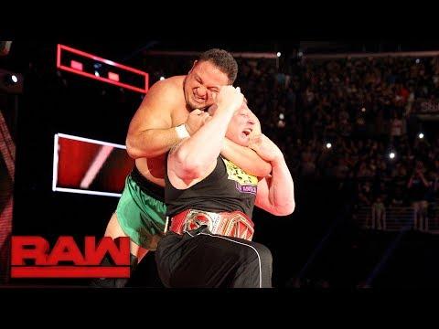 Samoa Joe traps Brock Lesnar in the Coquina Clutch: Raw, June 26, 2017