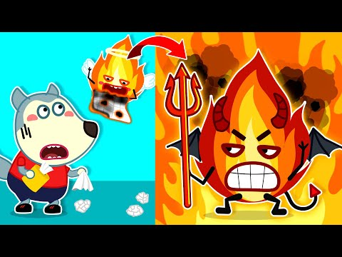 Wolf Family🌞 Wolfoo's House is on Fire - Wolfoo Learns Safety Tips for Kids + More   Kids Videos
