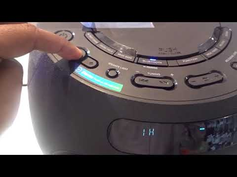 MHC-V02 Sony High Power Audio System with BLUETOOTH Technology Real Display Demo Video