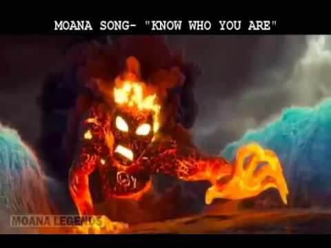 """MOANA CARTOON WHO ARE YOU - moana song """"i am moana"""" with lyrics"""