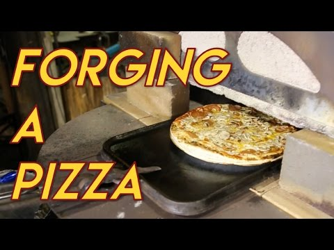 Cooking a Pizza in a 1600°F forge (meant for metal working).