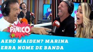 Pânico na Band - AERO MAIDEN? Marina erra o nome da BANDA FAVORITA do Benjamin Back