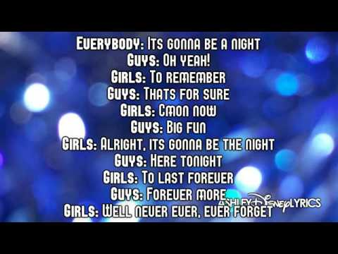 High School Musical   A Night To Remember Lyrics Video) HD