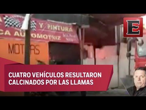 Sofocan incendio en taller mecánico de la Álvaro O Obregón