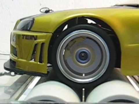 RC dyno drift Skyline R34 GTR supercharged intercooler exhaust