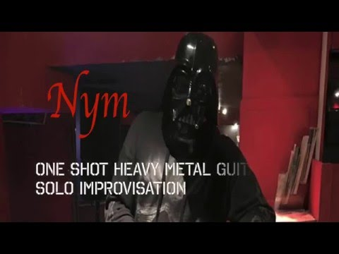 One shot heavy metal guitar solo improvisation