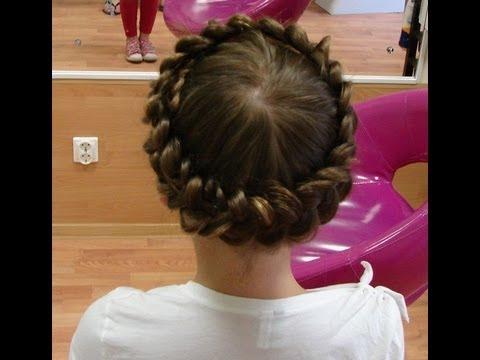 Плетение волос веночек