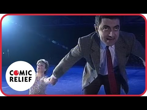 comic - Mr Bean goes ice skating with Jane Torvill.