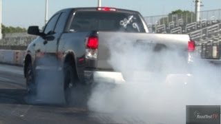 TRD Supercharged vs 2012 Shelby GT 500 - Drag Video - Road Test TV
