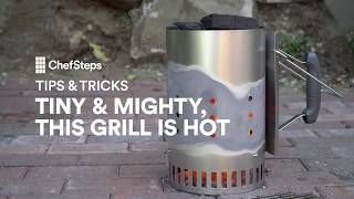 This tiny charcoal grill can handle anything from steak to scallops. For easy and fun weeknight cooking, all you need is a chimney starter and a grill rack. chfstps.co/2tX1yhaYou're passionate about cooking. We're here to help.Become a member and be the first to learn about new recipes, special offers, and goings-on around the kitchen: http://chfstps.co/1paXXVdAnd while you're at it...Like us on Facebook: http://chfstps.co/1thBubbFollow us on Instagram: http://chfstps.co/1nDs8Fj Tweet with us: http://chfstps.co/1gMVbWAGet Pin-spired: http://chfstps.co/1koB9kIRead our blog: http://chfstps.co/1rhTgh0