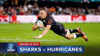 Sharks v Hurricanes Rd.16 2019 Super rugby video highlights | Super Rugby Video Highlights
