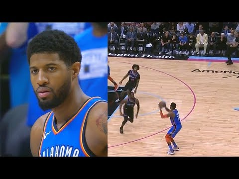 Paul George Craziest Game & Earns Dwyane Wade's Respect After Destroying Heat! Thunder Vs Heat
