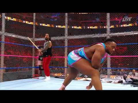 The New Day vs Usos. Full HD. Tag Team Championship Match.  WWE Hell In A Cell. 8th October 2017