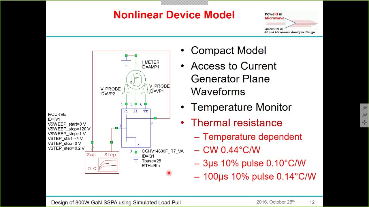 Webinar: Design of an 800W GaN PA Stage for Pulsed L Band Applications