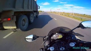 10. Yamaha R1 2012 crazy moto speed run on highway