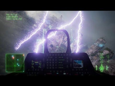 Burza z piorunami i efektowna walka, czyli gameplay z gry Ace Combat 7: Skies Unknown