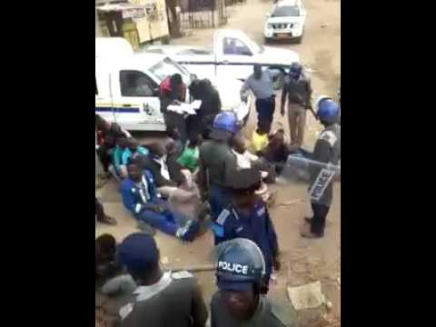 Zimbabwe Police Brutality, police torture residents in front of their children #thisflag