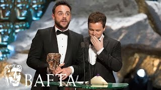 Ant and Dec's Saturday Night Takeaway wins Entertainment Programme at the BAFTA TV Awards 2017.subscribe to BAFTA ⏩ https://youtube.com/user/BAFTAonlinecheck out BAFTA Guru ⏩ https://youtube.com/user/BAFTAGuru⏬  stay up to date ⏬ Twitter: @BAFTA: https://twitter.com/BAFTA @BAFTAGuru: https://twitter.com/BAFTAGuru @BAFTAGames: https://twitter.com/BAFTAGames Facebook: https://www.facebook.com/baftaInstagram: http://instagram.com/baftasign up for our newsletter: http://guru.bafta.org/newsletter subscribe to our podcasts:iTunes: http://bit.ly/Vz84HI Soundcloud: https://soundcloud.com/baftavisit our websites to find out more:http://www.bafta.org/guruhttp://www.bafta.org