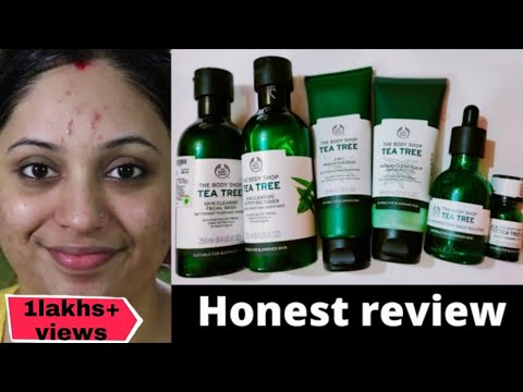 I tried Body shop Tea-tree Range Skincare Routine For 1 month || Acne prone/oily skin || Review ||