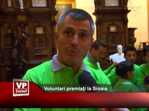 Voluntari premiaţi la Sinaia