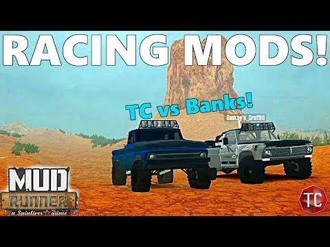 SpinTires MudRunner: TC vs BANKS! RACING TROPHY TRUCKS! Online Multiplayer With Mods