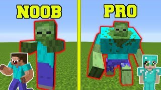 Minecraft: NOOB VS PRO!!! - ZOMBIE MUTANT EXPERIMENTS IN MINECRAFT! by PopularMMOs