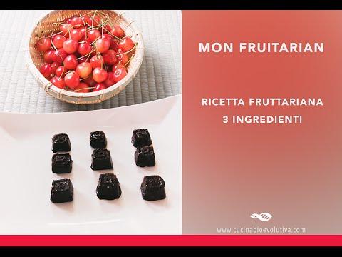 """Mon Fruitarian – Cioccolatini 100% Fruttariani con Amarene e """"Liquore"""" - 3 Ingredienti"""