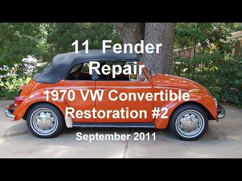 11 of 44 1970 VW Beetle Fender Repair.wmv