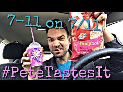 #PeteTastesIt 7-Eleven on 7/11 - Deadpool 2 Slurpee and Fiery Hot Chips