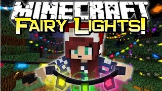 Minecraft PERFECT CHRISTMAS DECORATIONS! | Fairy Lights Mod Spotlight