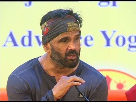 Sunil Shetty Addressing Yog Shivir | Patanjali Yog Peeth