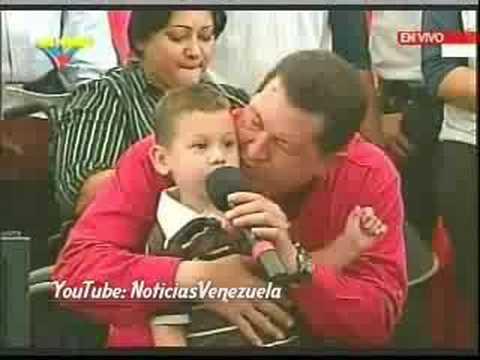 Chávez y el niño de la galleta