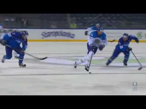 Видео лучших моментов матча Казахстан - Италия на ЧМ по хоккею