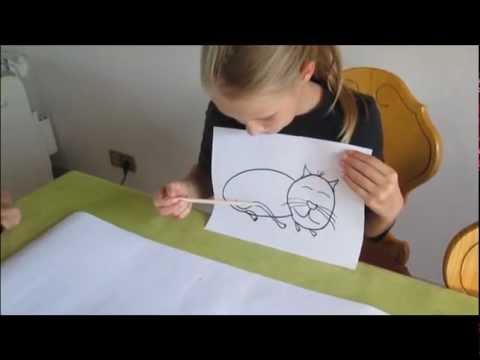 Deutsch lernen mit Caroline: Katze malen