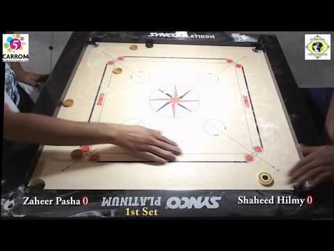 Carrom World Cup Korea 2018 Team Event Final 1st Set Zaheer Pasha vs Shaheed Hilmy