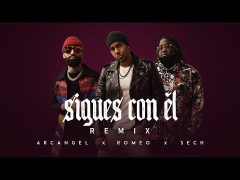 Sigues Con Él (Remix) - Arcangel, Sech, Romeo Santos