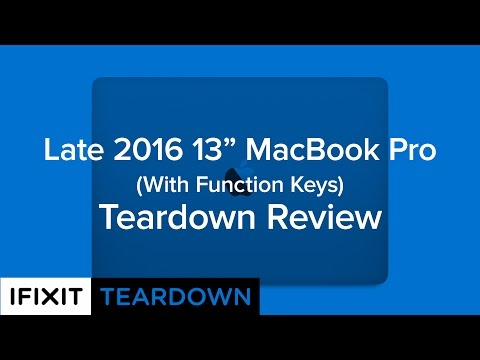 """, title : 'Late 2016 13"""" Macbook Pro (With Function Keys) Teardown Review!'"""