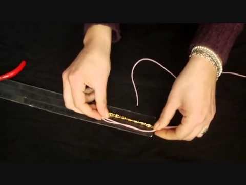 Tutorial Bracciale in catena e filo di gomma