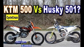 2. 2019 Husqvarna FE 501 Vs KTM 500 EXC F - Which is BETTER? | MotoVlog