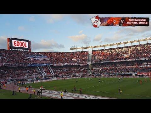 GOL DE DRIUSSI + BANDERAS NEGRAS PARLANTES NO HAY - River Plate vs Banfield - Torneo 2016/17 - Los Borrachos del Tablón - River Plate - Argentina - América del Sur