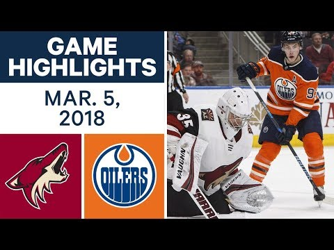 Video: NHL Game Highlights | Coyotes vs. Oilers - Mar. 05, 2018